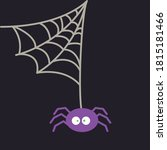 halloween creepy spider with web | Shutterstock .eps vector #1815181466