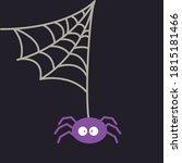 halloween creepy spider with web | Shutterstock .eps vector #1815181466