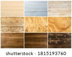 set of vintage brown and blue... | Shutterstock . vector #1815193760