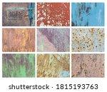 set of dark rusted metal... | Shutterstock . vector #1815193763