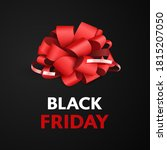 black friday  red bow for the... | Shutterstock .eps vector #1815207050