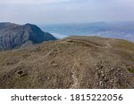 Aerial View Of Hikers On The...
