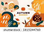 vector autumn template banner.... | Shutterstock .eps vector #1815244760