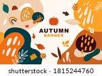 vector autumn template banner.... | Shutterstock .eps vector #1815244760