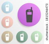 portable radio badge color set. ...