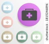 first aid kid badge color set....