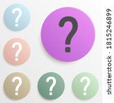 question mark badge color set....