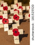 Wooden Crosses With Scarlet...