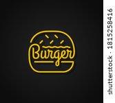 burger linear logo. yellow... | Shutterstock .eps vector #1815258416