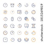 time and clock  vector color...