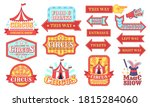 circus labels. carnival and... | Shutterstock . vector #1815284060