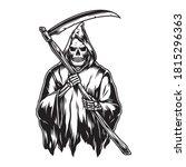 vintage concept of grim reaper... | Shutterstock .eps vector #1815296363