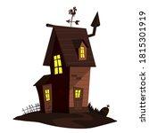 cartoon haunted scary house.... | Shutterstock .eps vector #1815301919