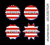 set patriotic 2020 voting... | Shutterstock .eps vector #1815307529