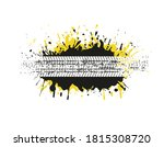 grunge dirty splash banner with ... | Shutterstock .eps vector #1815308720