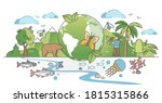 biodiversity as natural... | Shutterstock .eps vector #1815315866
