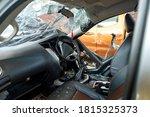Damaged Vehicle Closeup After...
