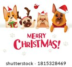 merry christmas  dogs and... | Shutterstock .eps vector #1815328469