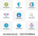set of brain logo design vector ... | Shutterstock .eps vector #1815348866