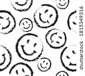 seamless pattern of happy round ... | Shutterstock .eps vector #1815349316