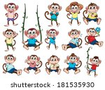 illustration of a group of... | Shutterstock . vector #181535930