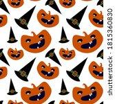 vector halloween seamless... | Shutterstock .eps vector #1815360830