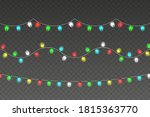 garlands decorations. led neon... | Shutterstock .eps vector #1815363770