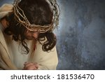 Jesus With Crown Of Thorns Wit...