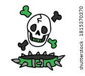 punk rock skull and collar...