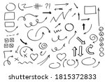 doodle arrows set or collection.... | Shutterstock .eps vector #1815372833