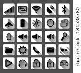 flat icons for mobile phone