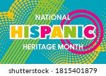 national hispanic heritage...   Shutterstock .eps vector #1815401879