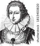 marguerite of france queen of...   Shutterstock .eps vector #1815403820