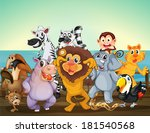 illustration of a group of... | Shutterstock . vector #181540568