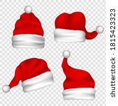 christmas santa claus hats with ...   Shutterstock .eps vector #1815423323