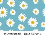 Blue Pattern Daisy Flower Hand...