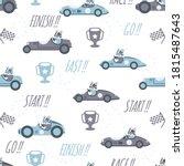 cute car race cartoon seamless... | Shutterstock .eps vector #1815487643
