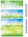 vector spring nature banners ... | Shutterstock .eps vector #181550120