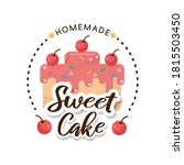 sweet bakery and bread labels...   Shutterstock .eps vector #1815503450