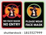 no face mask  no entry to... | Shutterstock .eps vector #1815527999