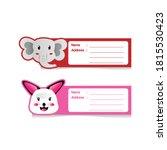 cute animal cartoon address... | Shutterstock .eps vector #1815530423