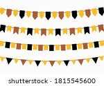 thanksgiving bunting flags.... | Shutterstock .eps vector #1815545600