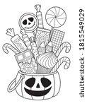 halloween pumpkin with candies... | Shutterstock .eps vector #1815549029