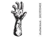 creepy zombie hand vintage...   Shutterstock .eps vector #1815553403