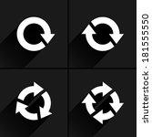 4 white arrow reload  rotation  ... | Shutterstock .eps vector #181555550