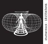 energy field illustration 3d... | Shutterstock .eps vector #1815565646