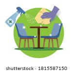clean and disinfect tables and... | Shutterstock .eps vector #1815587150