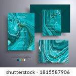 set of acrylic wedding... | Shutterstock .eps vector #1815587906