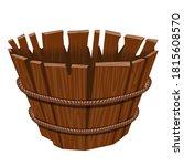 empty basket  isolated on white ...