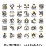 set of rental property... | Shutterstock .eps vector #1815621680